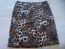 Woman's size 10 Valerie Bertinelli Lined Leopard Animal Print Straight Skirt