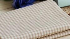 """GOTS fabric. Brown Checkered. 40s Woven. Naturally Coloured. 54"""" (137cm) wide."""