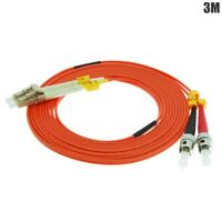 3m ST to LC Duplex 62.5/125 Multi Mode Fiber Optic Optical Patch Cable Cord