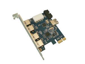 Pcie USB 3.0 - 7 Ports: (4+1) Ports On Plug + 2 Connector 19 Pts