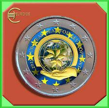 "2 Euro € Gedenkmünze Belgien 2015 Coin Coins "" Entwicklung "" coloriert"