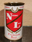 1960 MINTY NATIONAL LAGER FLAT TOP BEER CAN FISCHBACH ST CHARLES MISSOURI NO LID