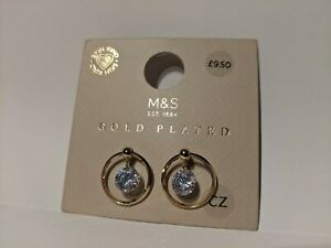 Marks and Spencers Earrings M&S Gold Plated Hypoallergenic Bridesmaid CZ