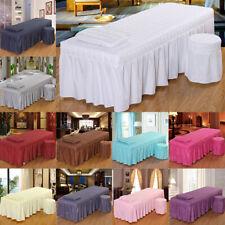 Massage Liegenbezug Massagenliegenbezug Set mit Tischrock Kissenbezug