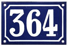 Blu Francese numero di casa 364 cancello piatto placca smaltata acciaio