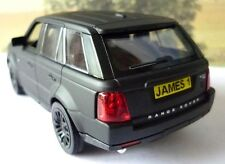 PERSONALISED PLATE Matt Black RANGE ROVER SPORT Boys Dad Toy Model Boxed