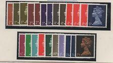 1967. Set x 23 PVA pre-decimal Machins inc. varieties. Superb unmounted mint.