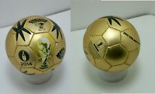 2X FIFA 2014 Brazil world cup gold MINI soccer balls size 2 futbol Pair