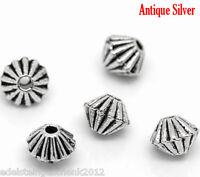 KUS 10 Antiksilber Hohle Gravur Blumenreben Spacer Perlen Beads Oval 26mmx11mm