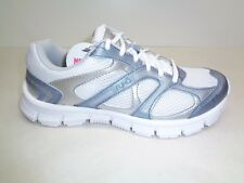 Ryka Size 7.5 M HARMONY SMT Memory Foam White Blue Sneakers New Womens Shoes