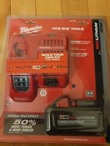 Milwaukee 48-59-1880 M18 REDLITHIUM HIGH OUTPUT XC 8.0 Ah Rapid Charger Kit New