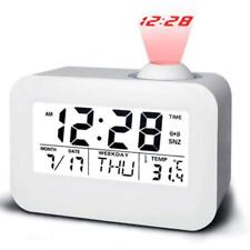 LCD Digital LED Projector Projection Snooze Alarm Clock Talking Temperature