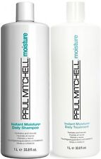 PAUL MITCHELL INSTANT MOISTURE DAILY SHAMPOO AND CONDITIONER 1 LITRE FREE SHIP