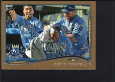 JUSTIN MAXWELL 2014 TOPPS MINI #594 GOLD PARALLEL ROYALS SP #62/63