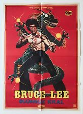 "the legend of bruce lee movie poster Olumsuz Kral ""immortal king"" turkish poster"