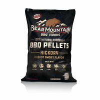 Bear Mountain BBQ Premium All-Natural Hardwood Hickory BBQ Smoker Pellets, 20 lb