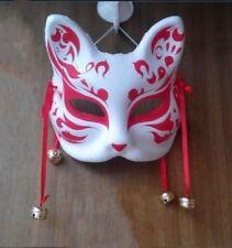Japanisch Fox Maske Halb Gesicht handbemaltes Maskerade halloween kostüm Cosplay