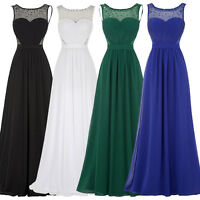 Long Maxi Bridesmaid Formal Gown Ball Party Cocktail Evening Prom Long Dress #YL