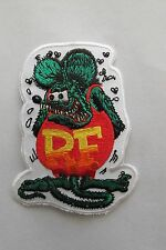 #8001 Hot Rods,Kustom Kulture Woven Embroidery Iron On Applique Patch,RF,Ed Roth