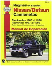 Haynes Nissan/Datsun Camionetas and Pathfinder (80 - 96) Spanish Repair Manual