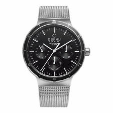 Obaku Dyb - Onyx Men's Watch Steel Black Dial Multi-Function 2Yr Wnty V220GMCBMC
