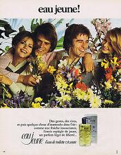 PUBLICITE ADVERTISING 074 1973 EAU JEUNE eau de toilette vivante