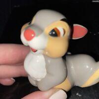 "Disney figurine ceramic figure Thumper bunny Bambi  glossy 2 1/2"" Disneyland"