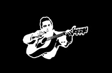JOHNNY CASH WITH GUITAR  Country Western Icon Singer Songwriter Sticker Decal