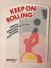 STICKER VINTAGE GERMAN WHEELCHAIR BASKETBALL NATIONAL TEAM OF MEN