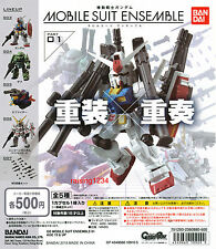 BANDAI Mobile Suit Gundam Ensemble 01 Gashapon Figure (Set 5 pcs) RX78-2 Unicorn