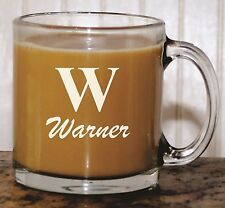 Personalized Etched Glass Coffee Mug - Custom Engraved Gift For Him or Her
