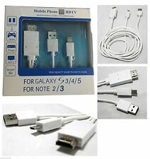 High Quality MHL Micro USB to HDMI HDTV Cable Lead For Samsung S5,S4,S3 White