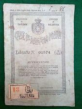 ANTICO LIBRETTO POSTALE CASSE DI RISPARMIO POSTALI UFFICIO SOLARUSSA 1925. N°L68