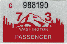 1973 WASHINGTON Vinyl Sticker Decal -CAR/Passenger License Plate Reg.TAB TAG-New