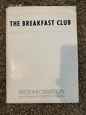 "Original ""THE BREAKFAST CLUB"" Movie PRESS KIT Folder photos Info 1985 *Complete*"