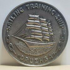 Sailing training ship Druzhba morflot Odessa Medallion 55mm 59g
