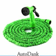 15m Grün Flexibler Gartenschlauch Wasserschlauch Dehnbarer Flexischlauch
