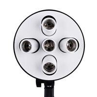 5 in 1 E27 Base Socket Light Lamp Bulb Holder Adapter for Photo Studio Softbox