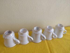 Brûlots Tasses Café Bistro Creil Et Montereau Porcelaine  Opaque lot de 5