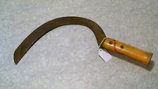 Vintage Wood Handle Hand Scythe Sickle Old Garden Farm Tool Rustic Decor (B)