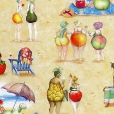 "Fruit Ladies ~ 1/2 yard ~Mary Stewart ~  ELS1519 -sand  100% Cotton ~  43"" Wide"