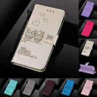 For Samsung A30 A50 M10 M20 Couple Owl Leather Flip Stand Card Wallet Case Cover