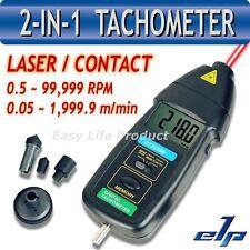 Risepro Tachimetro Digitale Ottico e Contatto Laser Contagiri