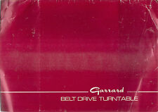 GARRARD BELT DRIVE RECORD TURNTABLE  Instruction book in 4 languages  c.1988