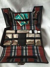 Vintage Man Dressing Table Set With Black Leather Case