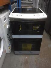 Zanussi ZCV551MW 55cm Electric Cooker Double Oven Ceramic Hob Freestanding s/w