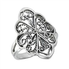 Sterling Silver Filigree Ring size 7