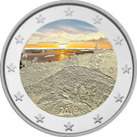 2 Euro Gedenkmünze Finnland 2018 Koli coloriert m. Farbe / Farbmünze