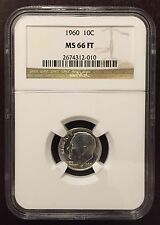 1960 Roosevelt Dime NGC MS-66 FT, Buy 3 Get $5 Off!! x2294