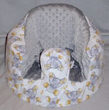 New Bumbo Floor Seat Cover • Elephants All Over • Safety Strap Ready